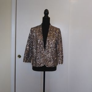 💗Gray Sequined Formal Evening Jacket
